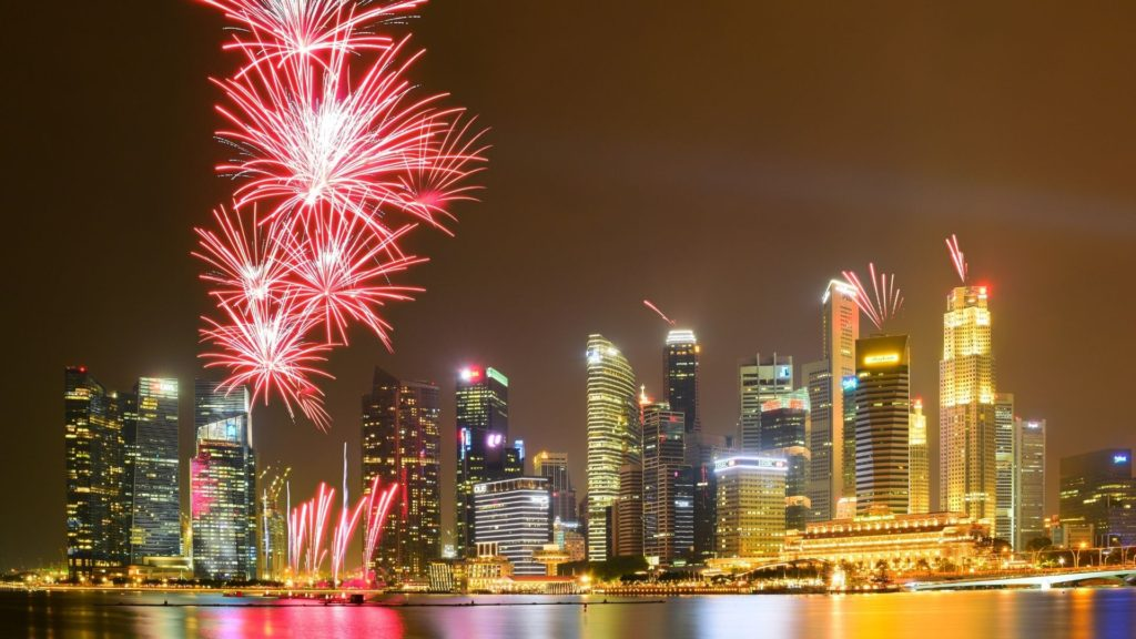 Fireworks in Singapore.